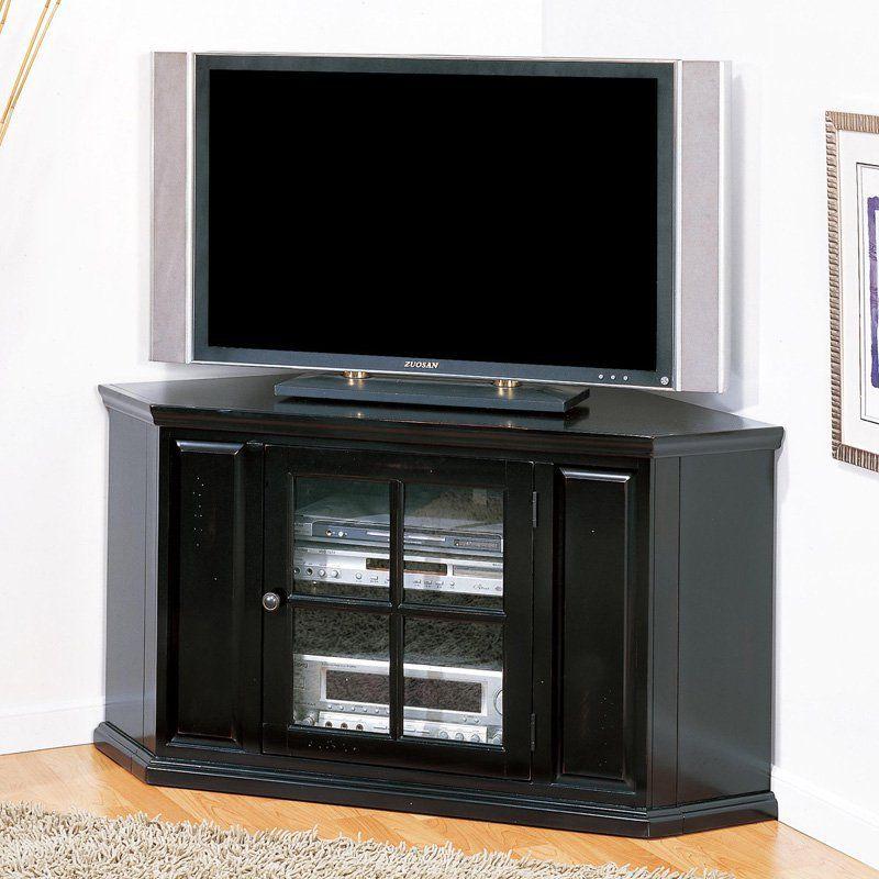 Leick Riley Holliday Black Rub 46 in Corner TV Console The