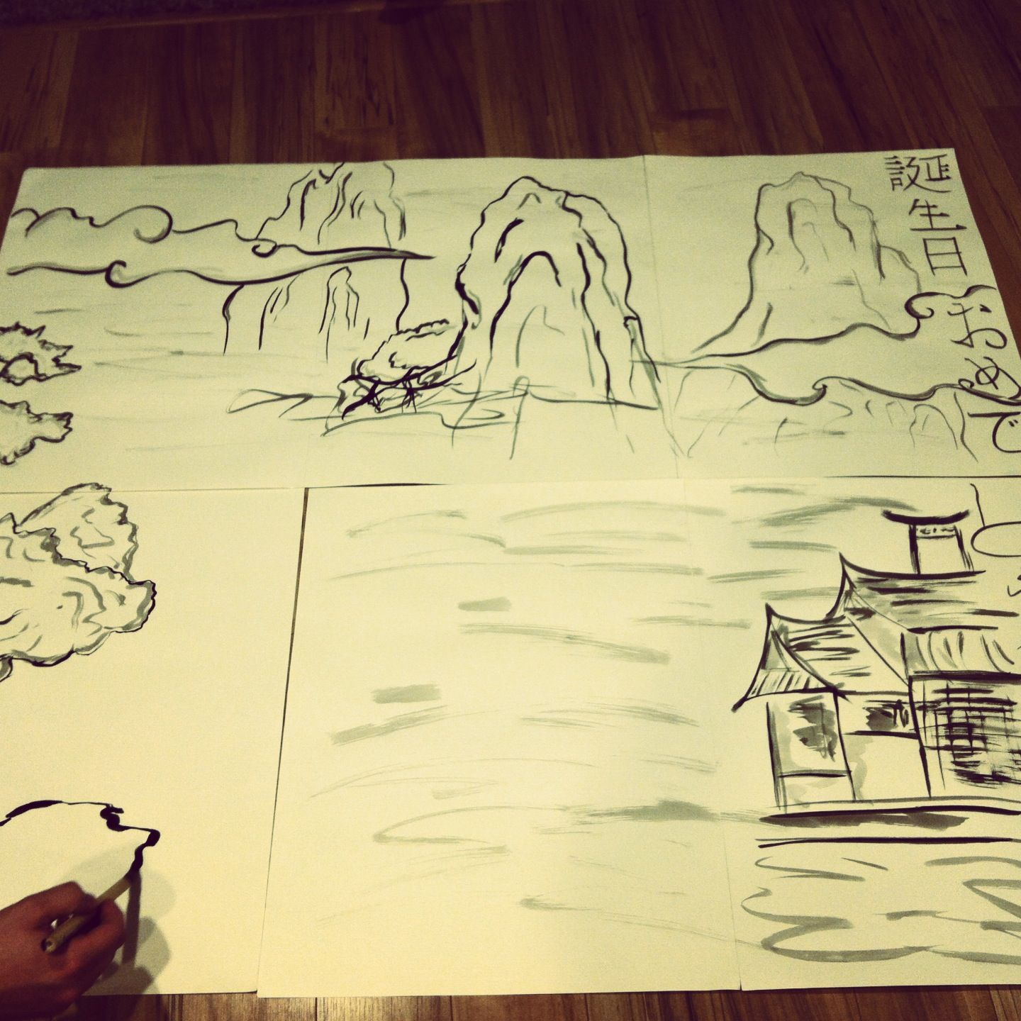 ink painting for ninjago photo booth backgrounddave