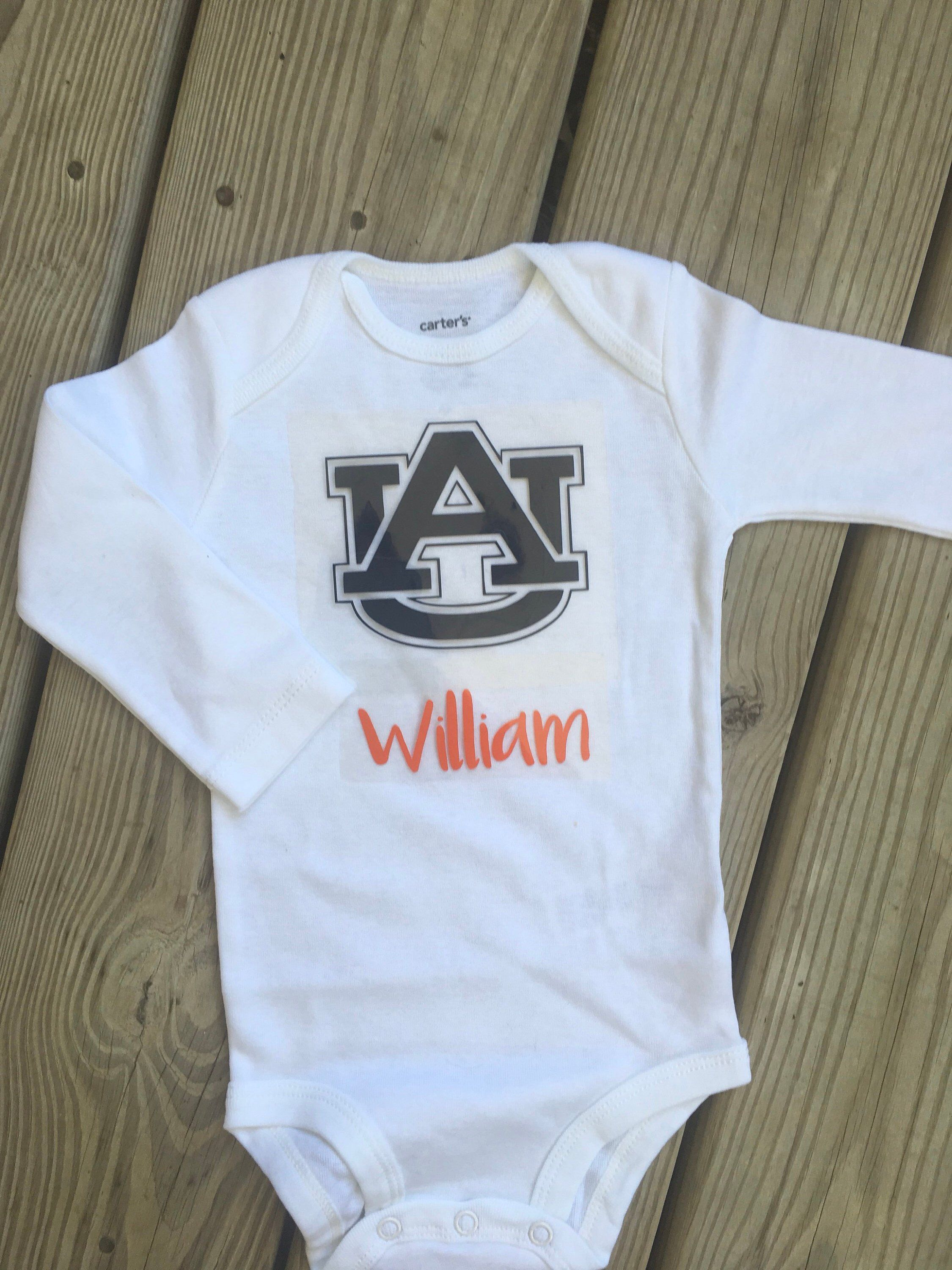 280b47adf Excited to share this item from my #etsy shop: Auburn Tiger Baby Onesie -  Personalized, Tiger Cub - Girl or Boy #wareagle