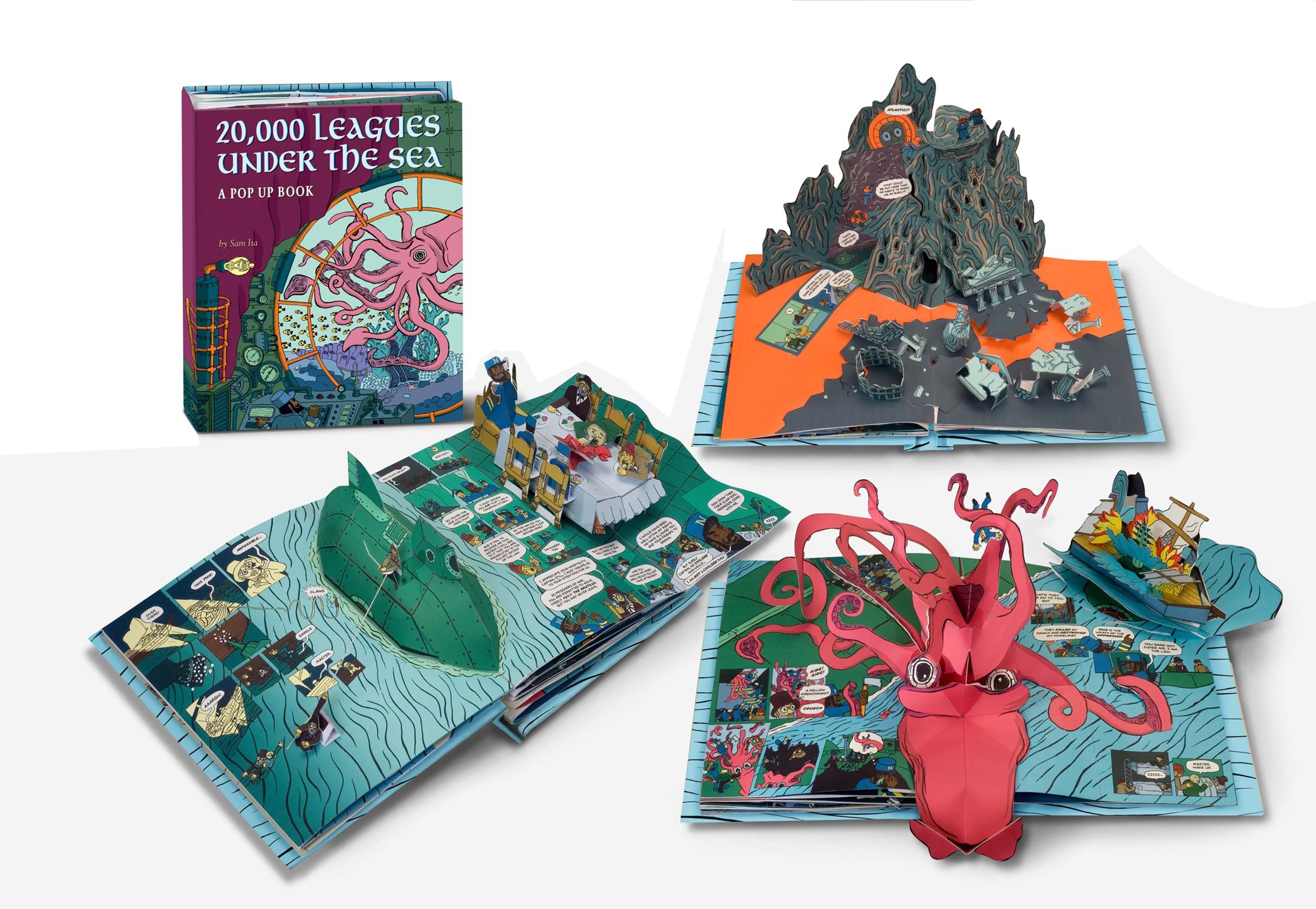 20 000 Leagues Under The Sea Pop Up Book Sam Ita Under The Sea Crafts Pop Up Book Diy Projects With Books