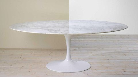 Eero Saarinen Oval Tulip Dining Table In Ovals To 96 Saarinen