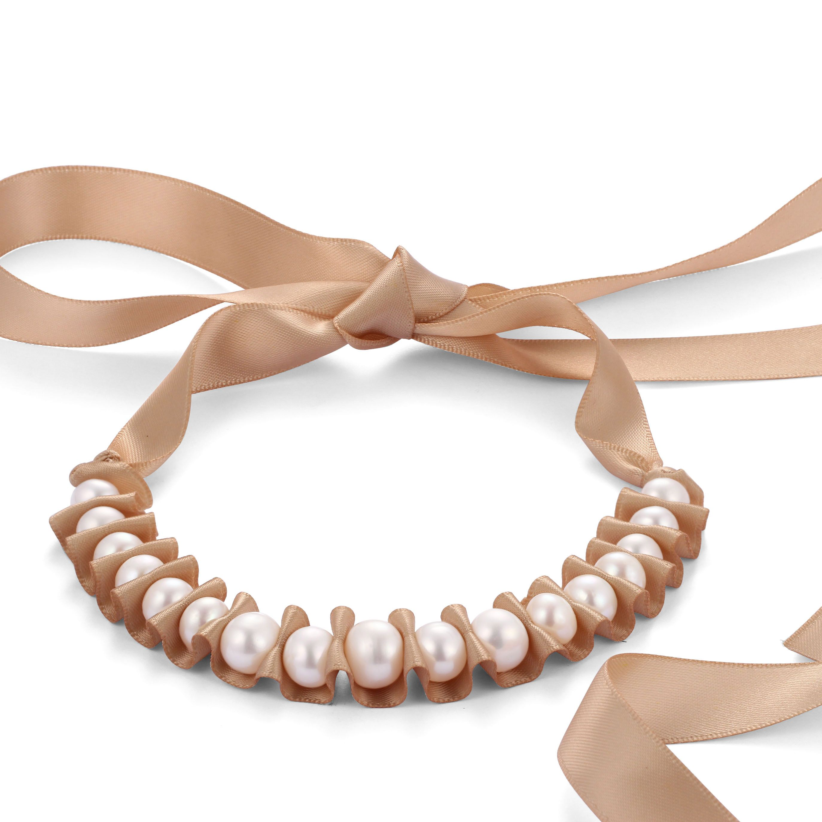 Rope Handmade Freshwater Pearl Necklace Unique Wedding Jewelry