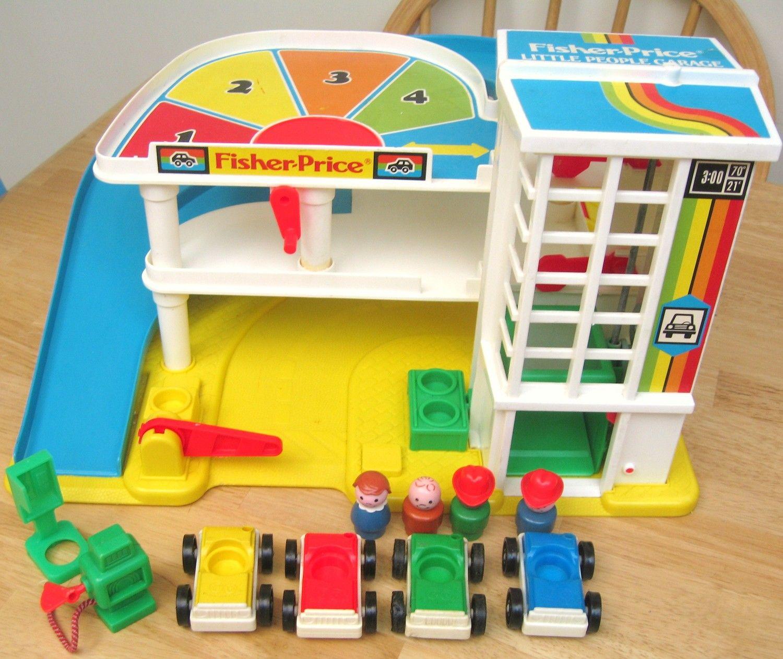fisher price action garage nostalgia pinterest. Black Bedroom Furniture Sets. Home Design Ideas
