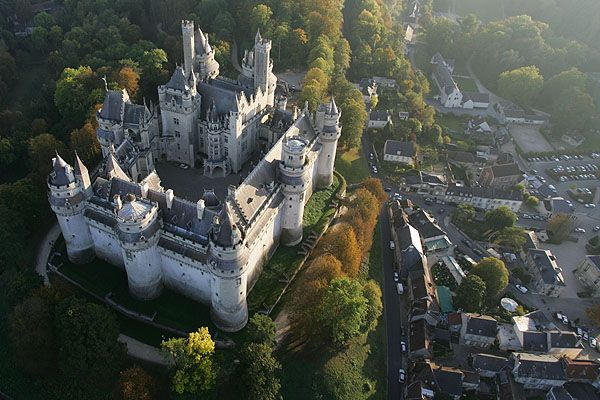 Château de Pierrefonds, France. The castle has often been used as a location for filming including les Visiteurs, Highlander: The Series, The Messenger: The Story of Joan of Arc and the 1998 version of The Man in the Iron Mask. The castle serves as Camelot for the BBC series Merlin.