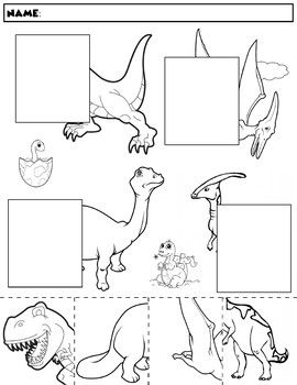 dinosaur color and match group 1 asd intervention dinosaur coloring dinosaurs preschool. Black Bedroom Furniture Sets. Home Design Ideas