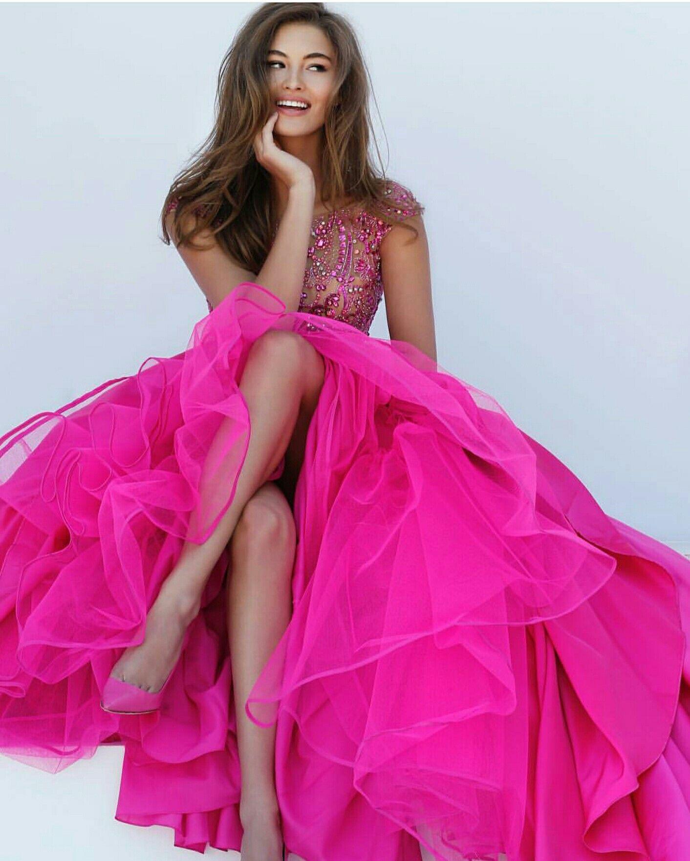 Hot pink prom dress by sherri hill prom pinterest hot pink