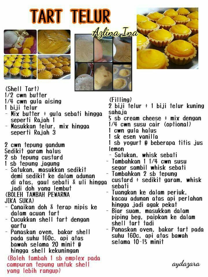 Tart Telor Durian Recipe Egg Tart Cream Puff Recipe