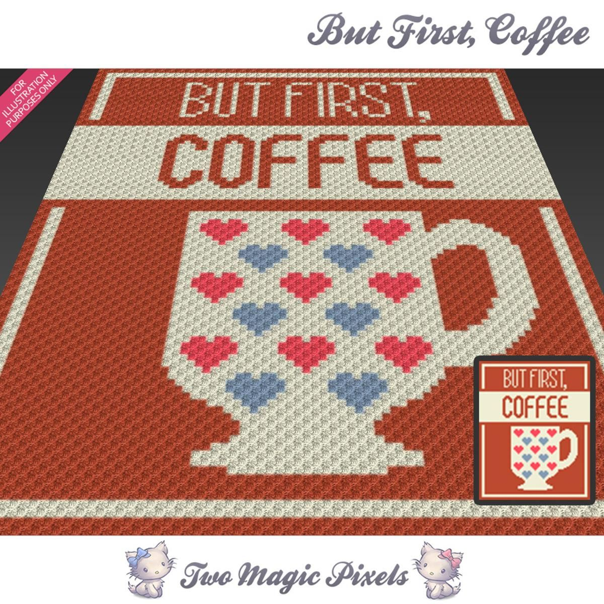 But First, Coffee C2C Crochet Graph