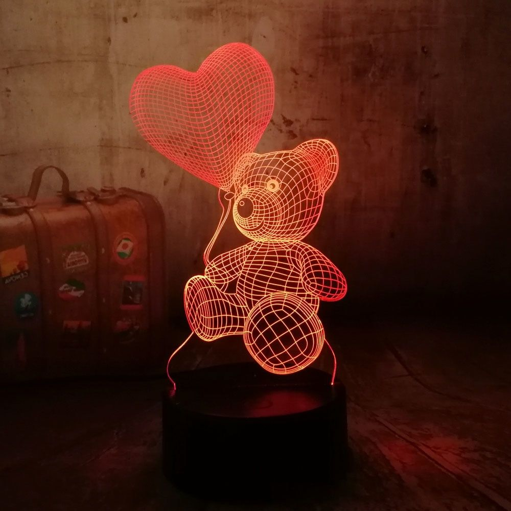 Teddy Bear 3d Led Night Light Price R193 95 Free Shipping Fashion Sport Tech Lifestyle 3d Led Night Light Heart Balloons Led Night Light