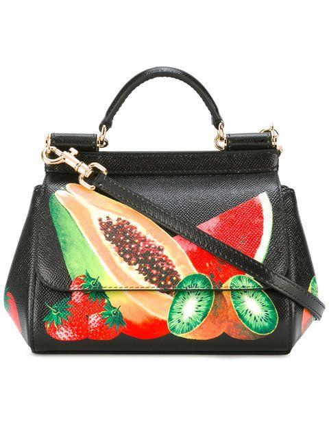 3fffe5598275 DOLCE   GABBANA Fruit Print Bag.  dolcegabbana  bags  shoulder bags  hand  bags  leather