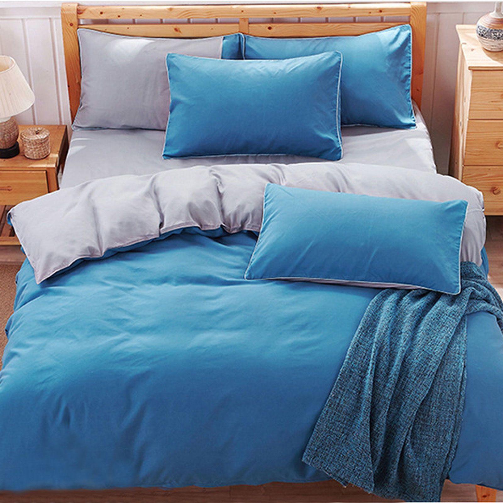 New 4PieceFlat Sheet Duvet Cover Pillow Case Twin