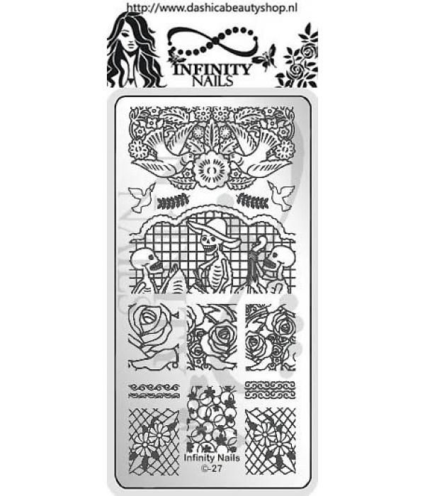 Infinity Nails Plate 27 stamping plate dots mexican papel picado ...