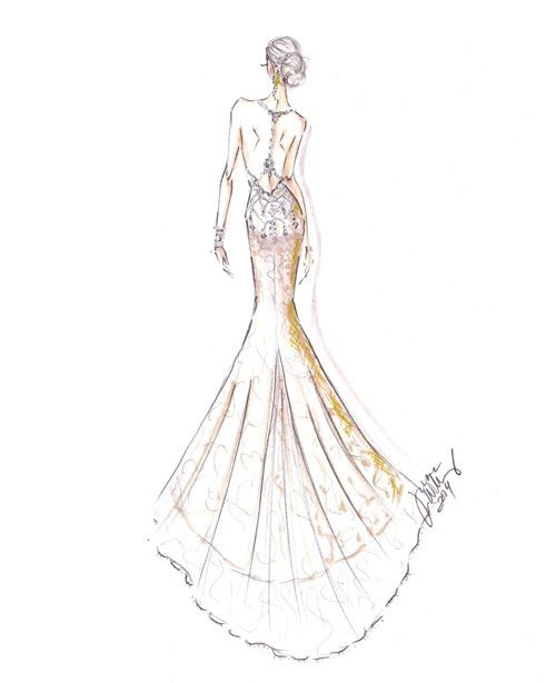 Fall 2014 Collection Sketch. Ivory French