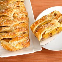 Braided Peach Strudel - Puff Pastry