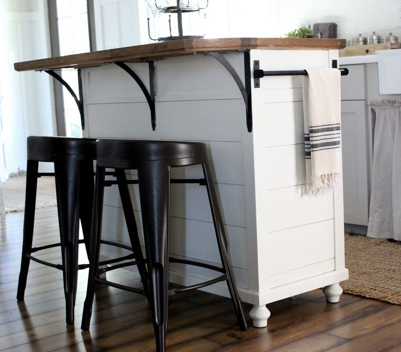 Kitchen Island Furniture Piece: TAKE A PIECE OF STOCK FURNITURE AND MAKE IT YOUR OWN