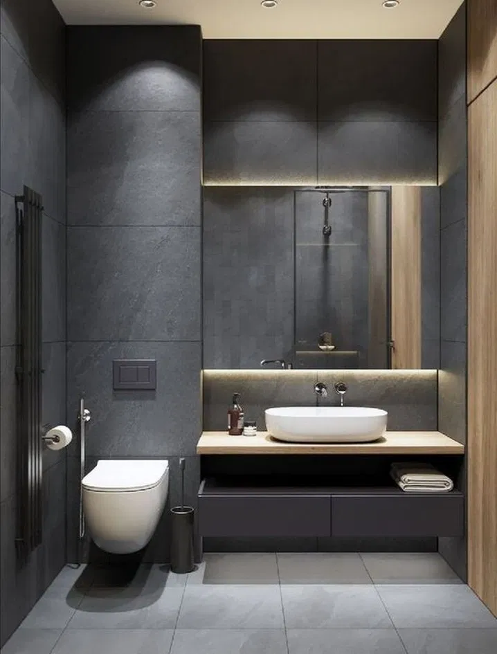 9 Ideas Bathroom Modern Design Luxury Powder Rooms For 2020 8 Washroom Design Restroom Design Minimalist Bathroom Design
