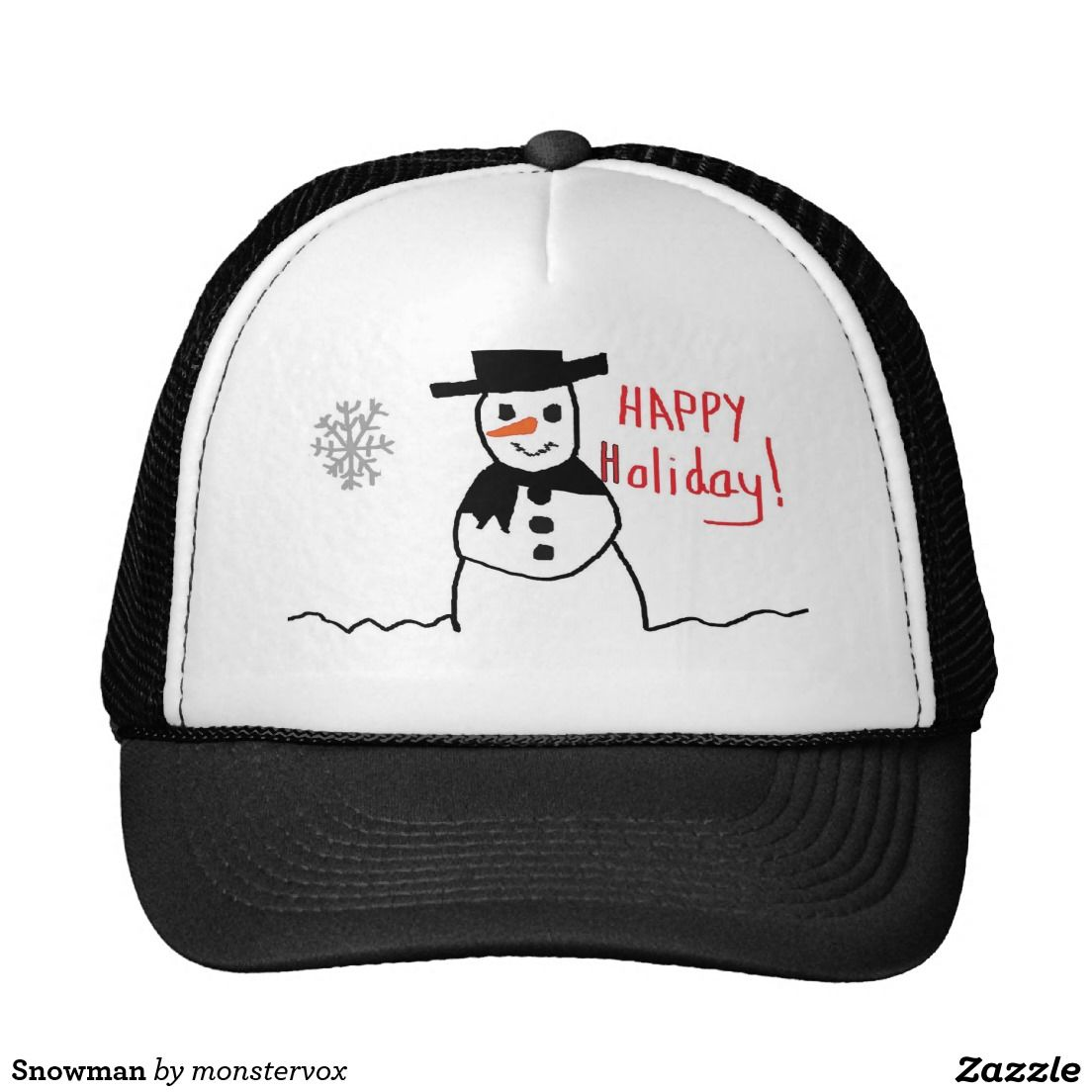 Snowman Trucker Hat  Snowman  Snow  Snowflake  Winter  Holiday  Christmas   49bfef246d7