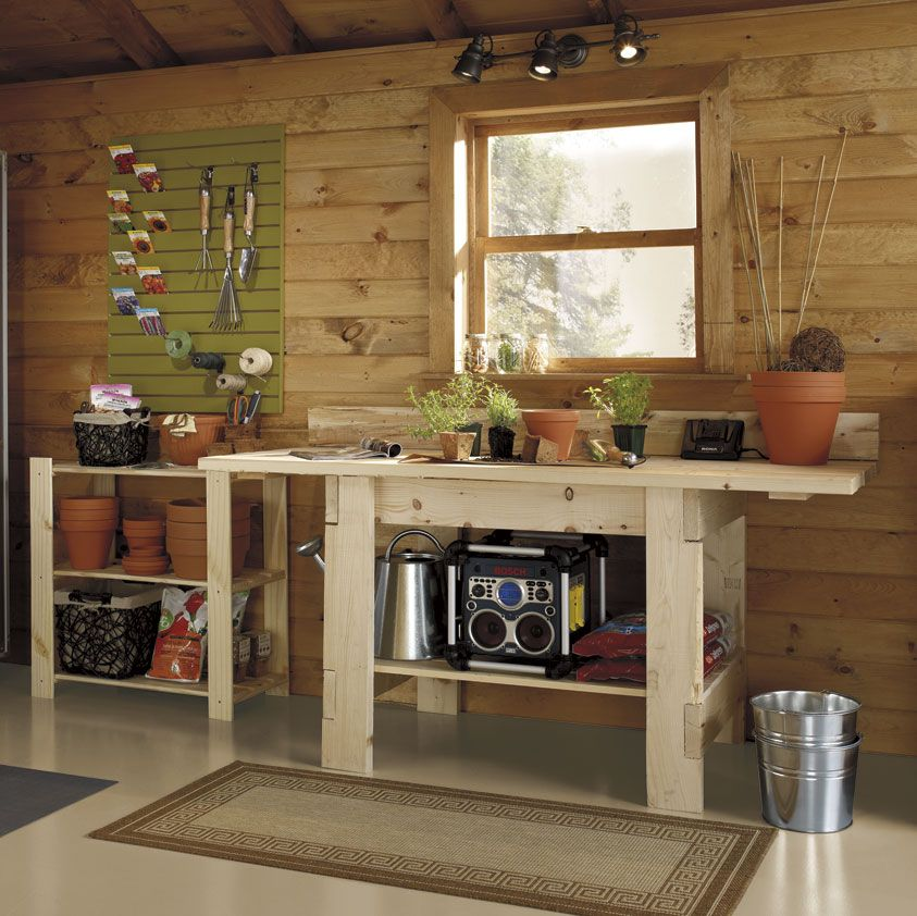 storage solutions for the shed garage pinterest garage rangement et jardinage. Black Bedroom Furniture Sets. Home Design Ideas