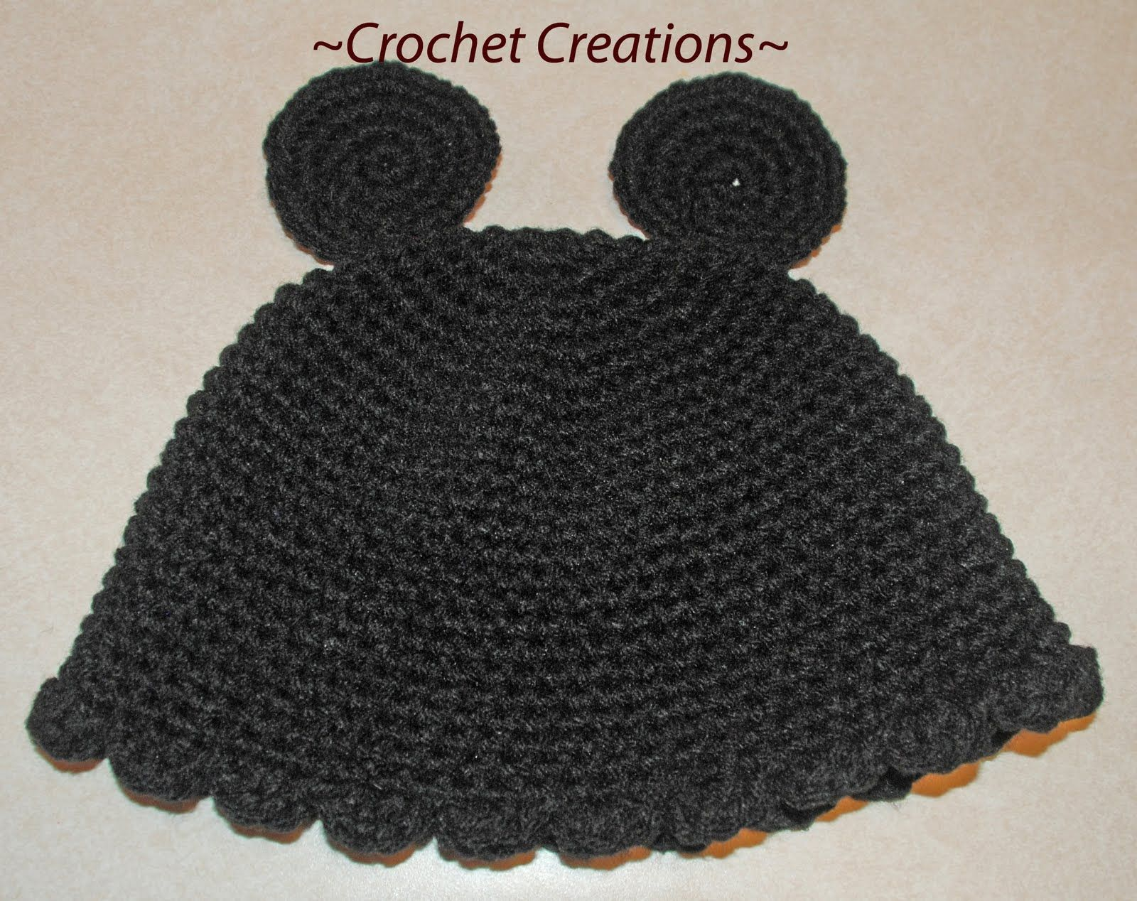 Crochet Creative Creations: mickey mouse hat | Baby Blankets ...