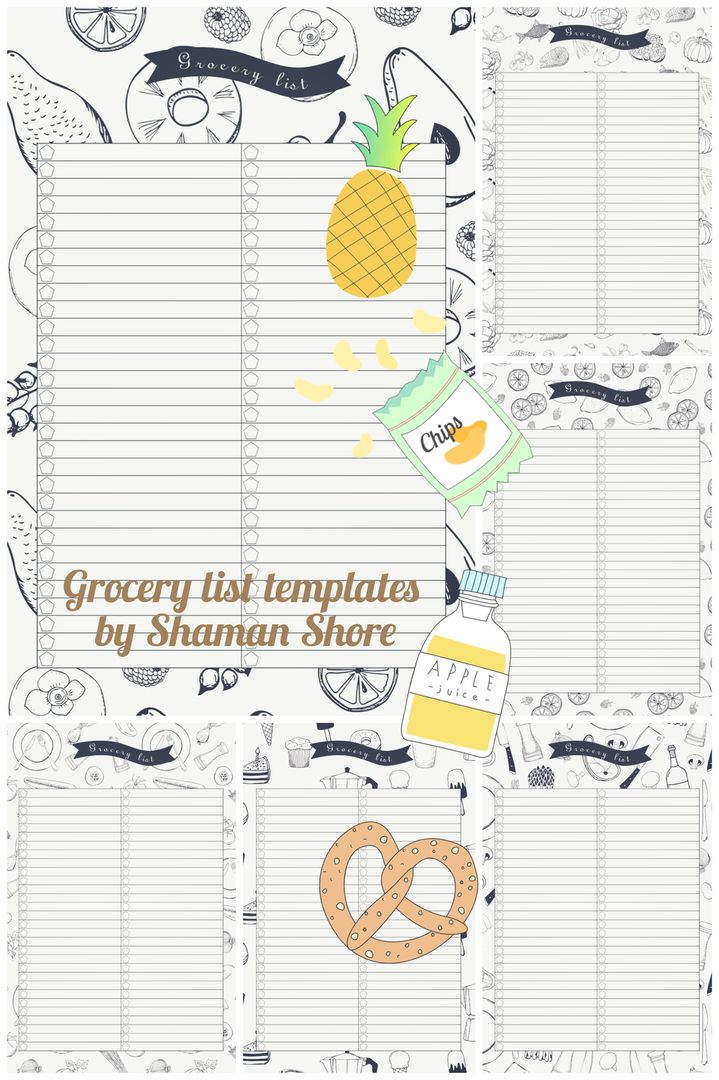 Grocery List Pdf A Grocery Planning Printable Templates