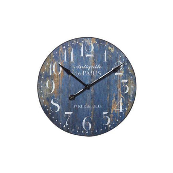 Orologio Antiquité de Paris Orologi a muro Maisons du Monde ❤ liked on Polyvore featuring home, home decor, clocks, blue, fillers, deco, blue clock, blue home decor, paris home decor and parisian home decor