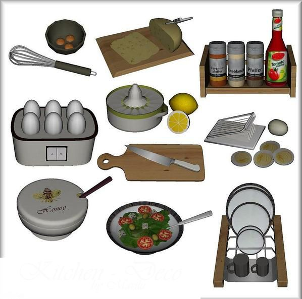 Sims 4 cc 39 s the best kitchen deco by leo sims sims 4 - Sims 3 spielideen ...