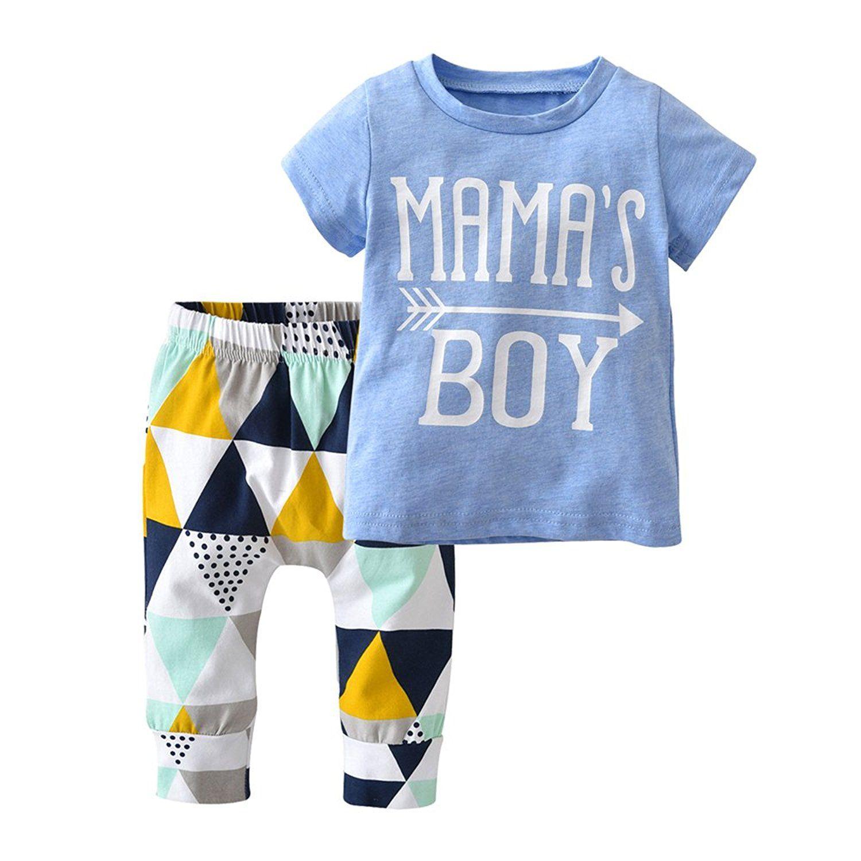 Amazon.com: Derouetkia Baby Boys Summer Mama's Boy Short ...