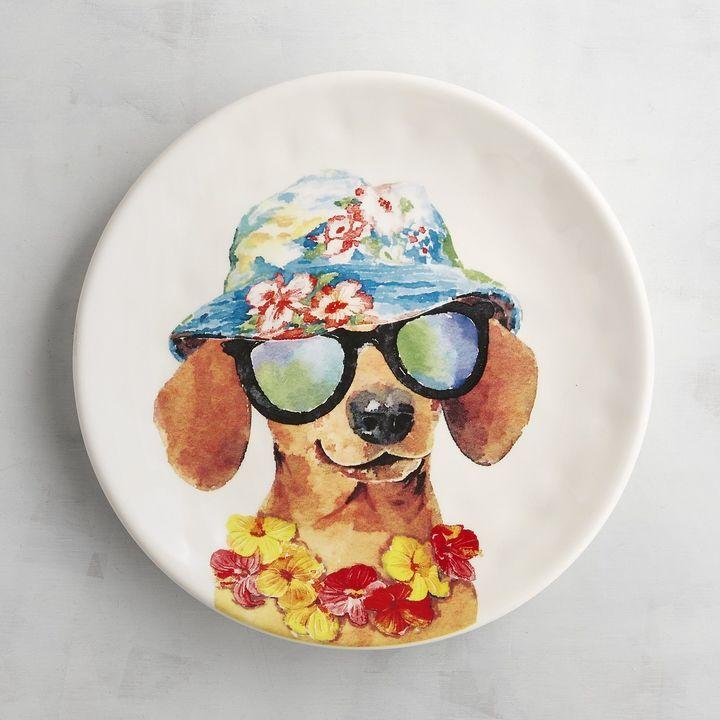 Chico dog salad plate imagens