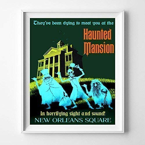 Amazon Com Disneyland Haunted Mansion Wall Art Poster Home Decor Print Vintage Artwork Reprod In 2020 Vintage Disney Poster Haunted Mansion Disneyland Poster Wall Art