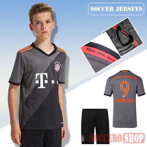 new style 5dcfc 0554b Newest Cool Bayern Munich Grey 2016-2017 Away Kids Soccer ...