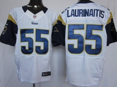 new arrivals b8cac 4bb80 Nike St. Louis Rams #55 James Laurinaitis White Elite Jersey ...