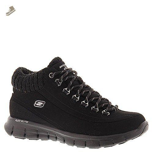 Skechers Synergy Winter Nights Boot Sneaker Shoe Black