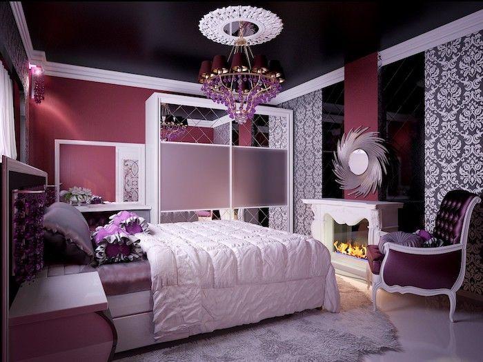 Jugendzimmer Ideen In Lila Luxuseinrichtung Im Teenager Zimmer