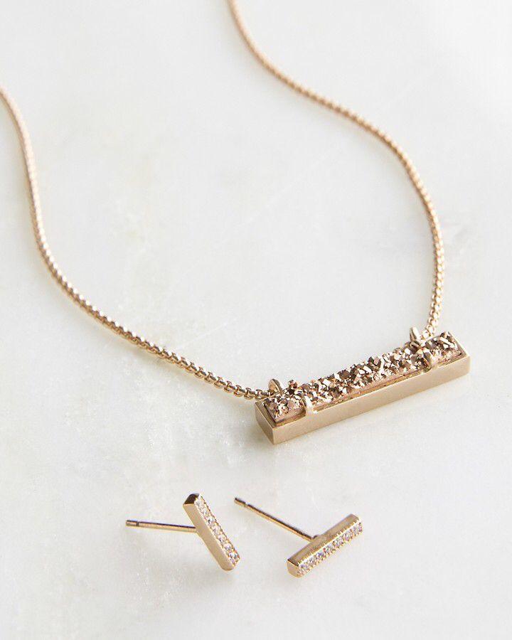 Jon Leanor Rose Gold Drusy Gift Set sponsored affiliate link