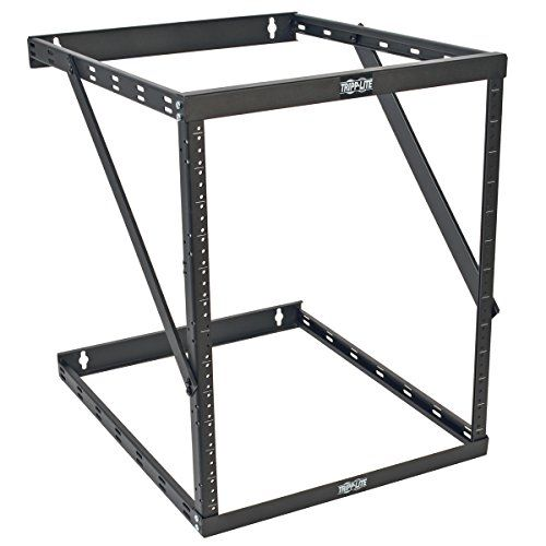Tripp Lite 8u 12u 22u Expandable Wall Mount 2 Post Open Frame Rack Adjustable Network Equipment Rack Ups Depth 23 5 D Open Frame Tripp Lite Wall Mount Rack
