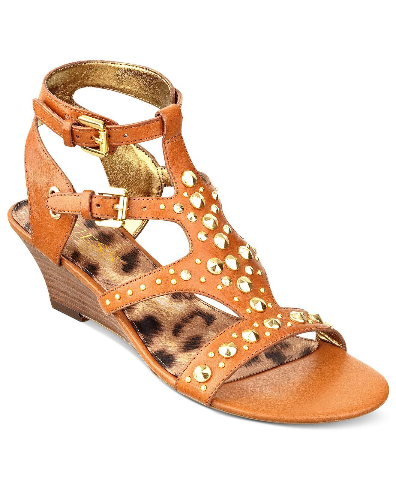 a2a5fdbaa88 GUESS Women s Aidana Demi Wedge Sandals - Sandals - Shoes - Macy s ...