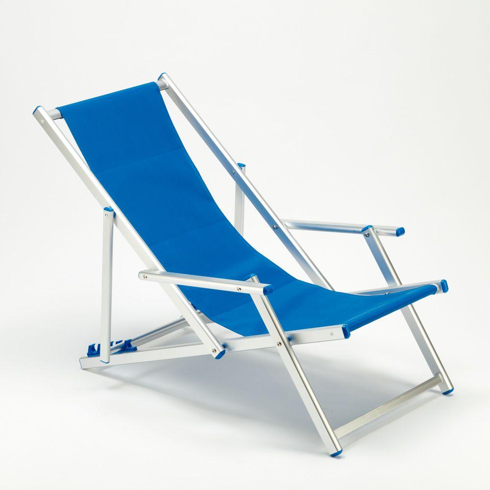 Transat Chaise De Plage Avec Accoudoirs Piscine Aluminium Riccione Lux Chaise De Plage Transat Piscine