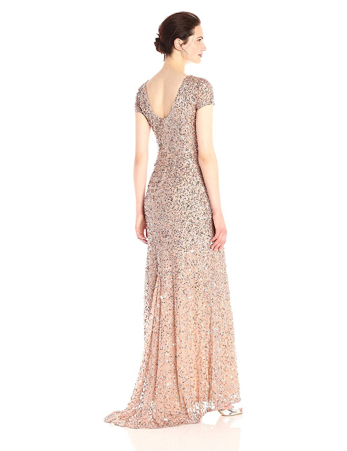 7ed143fb Adrianna Papell Women's Short-Sleeve All Over Sequin Gown 4.3 out of 5  stars 80 customer reviews Price: $145.80 - $280.00