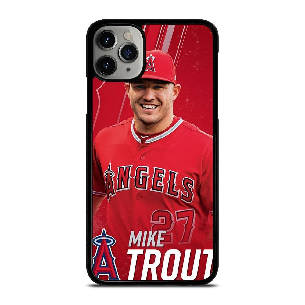 Mike trout baseball iphone 11 pro max case cover in 2020