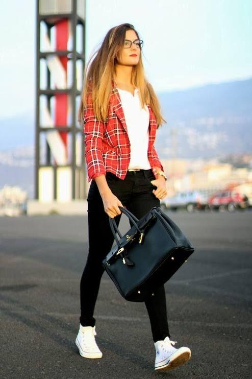 #tartan #jacket #look