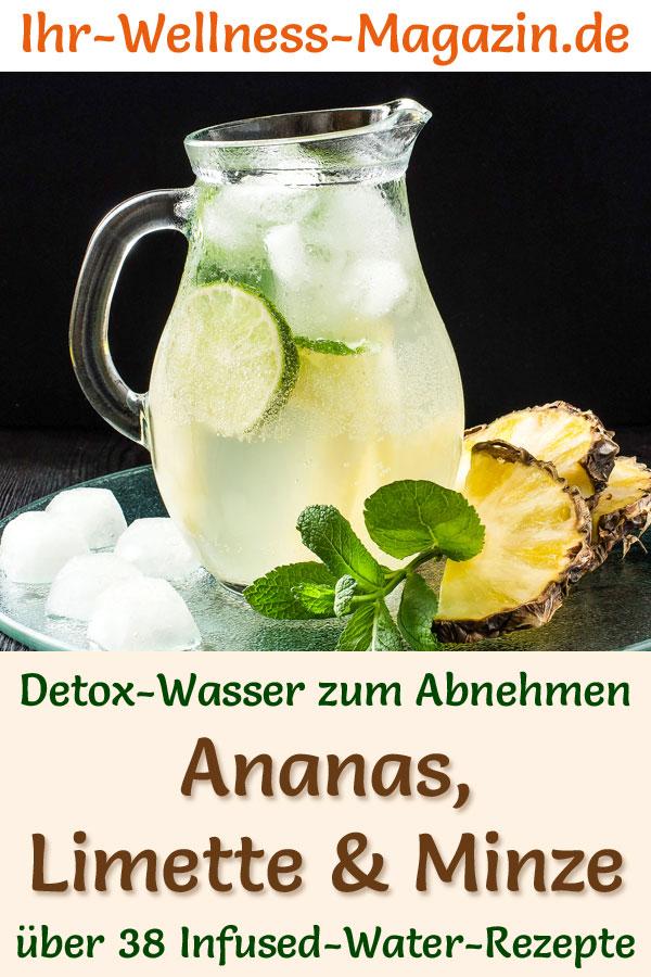 Ananas-Limetten-Minze-Wasser – Rezept für Infused Water – Detox-Wasser