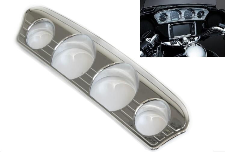 34.99$  Buy now - http://ali4z0.shopchina.info/go.php?t=32759637767 - Chrome Tri-Line Gauge Accent Trim Cover For Harley Electra Street Glide & Trike 14 -17 34.99$ #buymethat