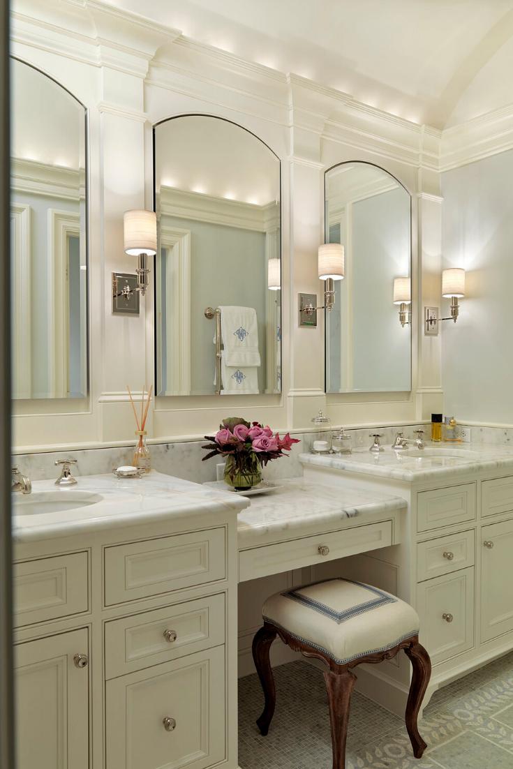 Top 10 Double Bathroom Vanity Design Ideas Traditional Bathroom Double Sink Bathroom Vanity Bathroom Design [ 1102 x 735 Pixel ]