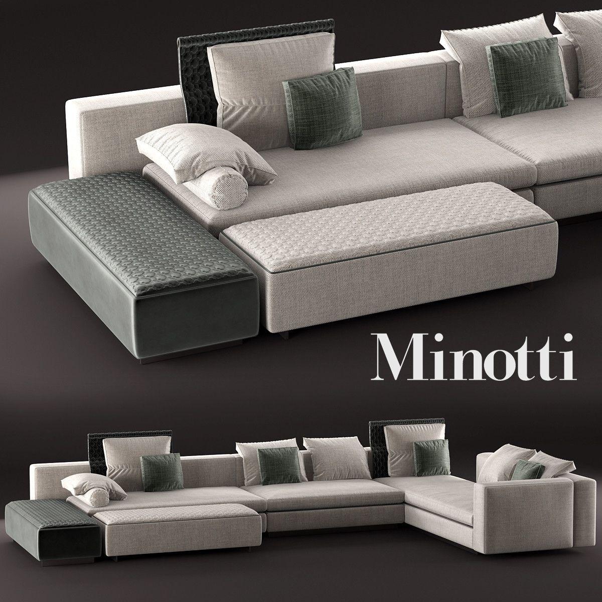 3D Model Yang Modular Sofa - 3D Model