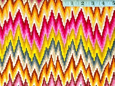 Pastel Flame Stripe Home Dec Fabric
