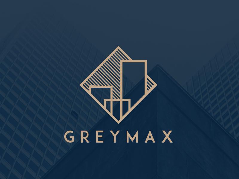 Greymax London Logo Mimari logo, Kartvizit tasarımı ve