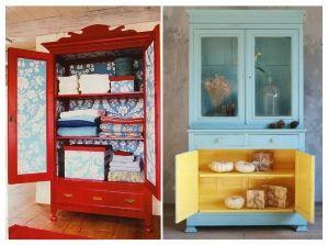 comment relooker ses meubles de famille armoire ancienne les prunes et bleu canard. Black Bedroom Furniture Sets. Home Design Ideas