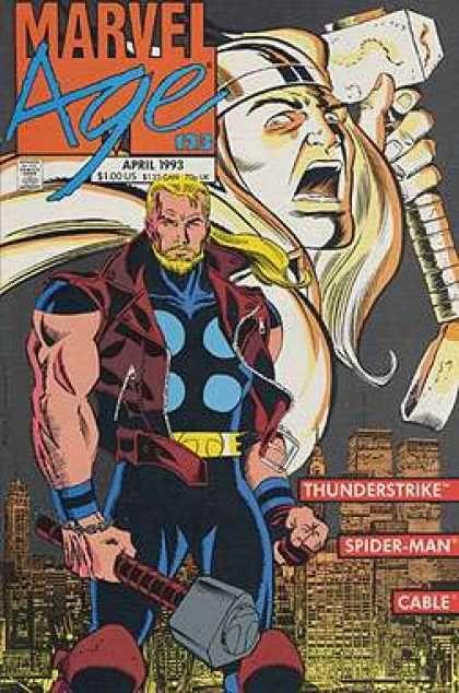 Cable - Spiderman - Thunderstrike - Nyc Skyline - Thor