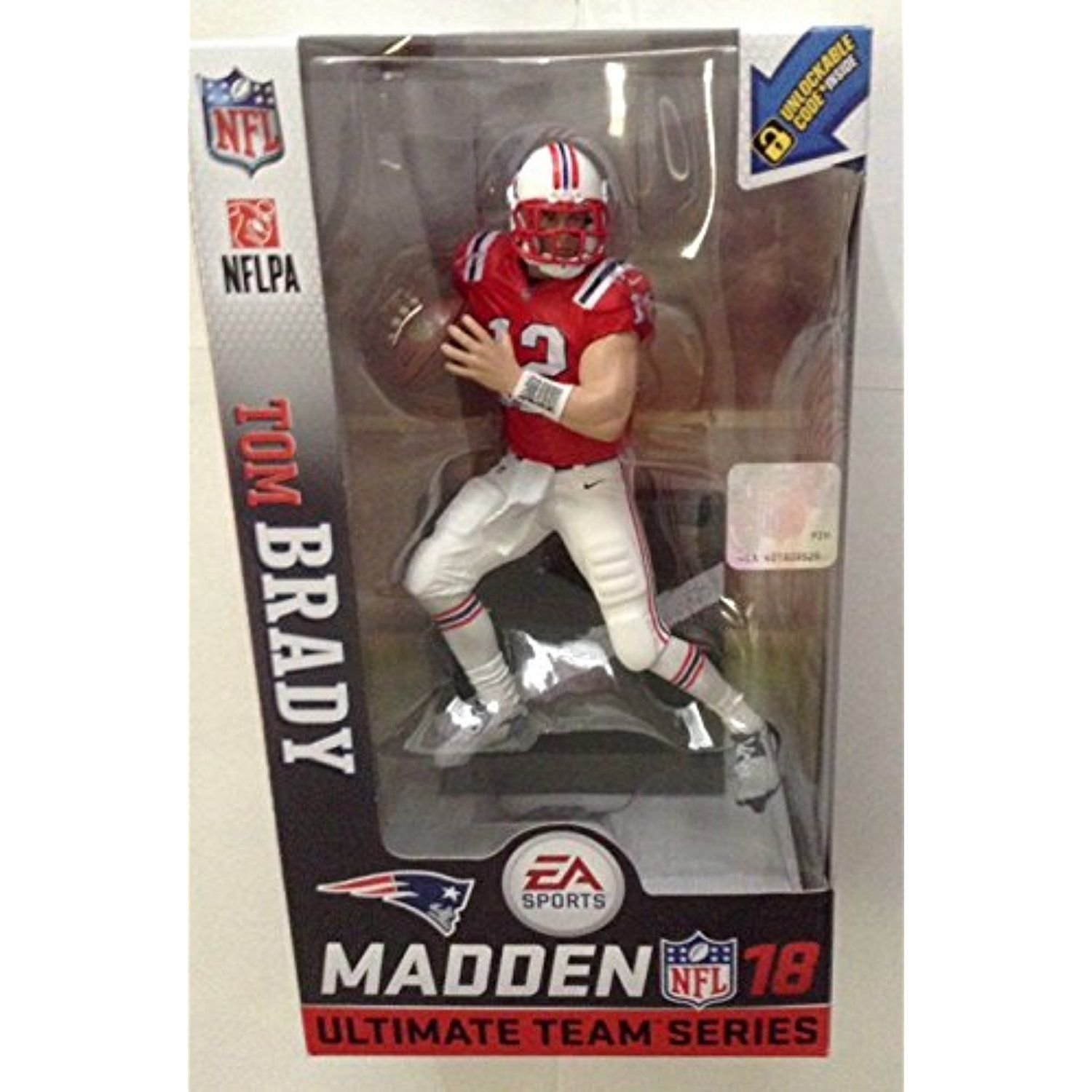 2ee7e8ae McFarlane Toys EA Sports Madden NFL 18 Ultimate Team - New England Patriots Tom  Brady (Retro Uniform - Exclusive) Action Figure * Click on the image for ...