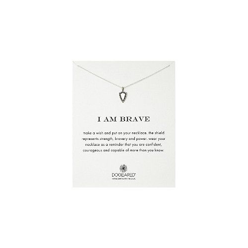 Dogeared I Am Brave Shield Chain Necklace - $52